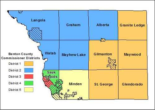 Mn On Us Map.District Map Benton County Mn