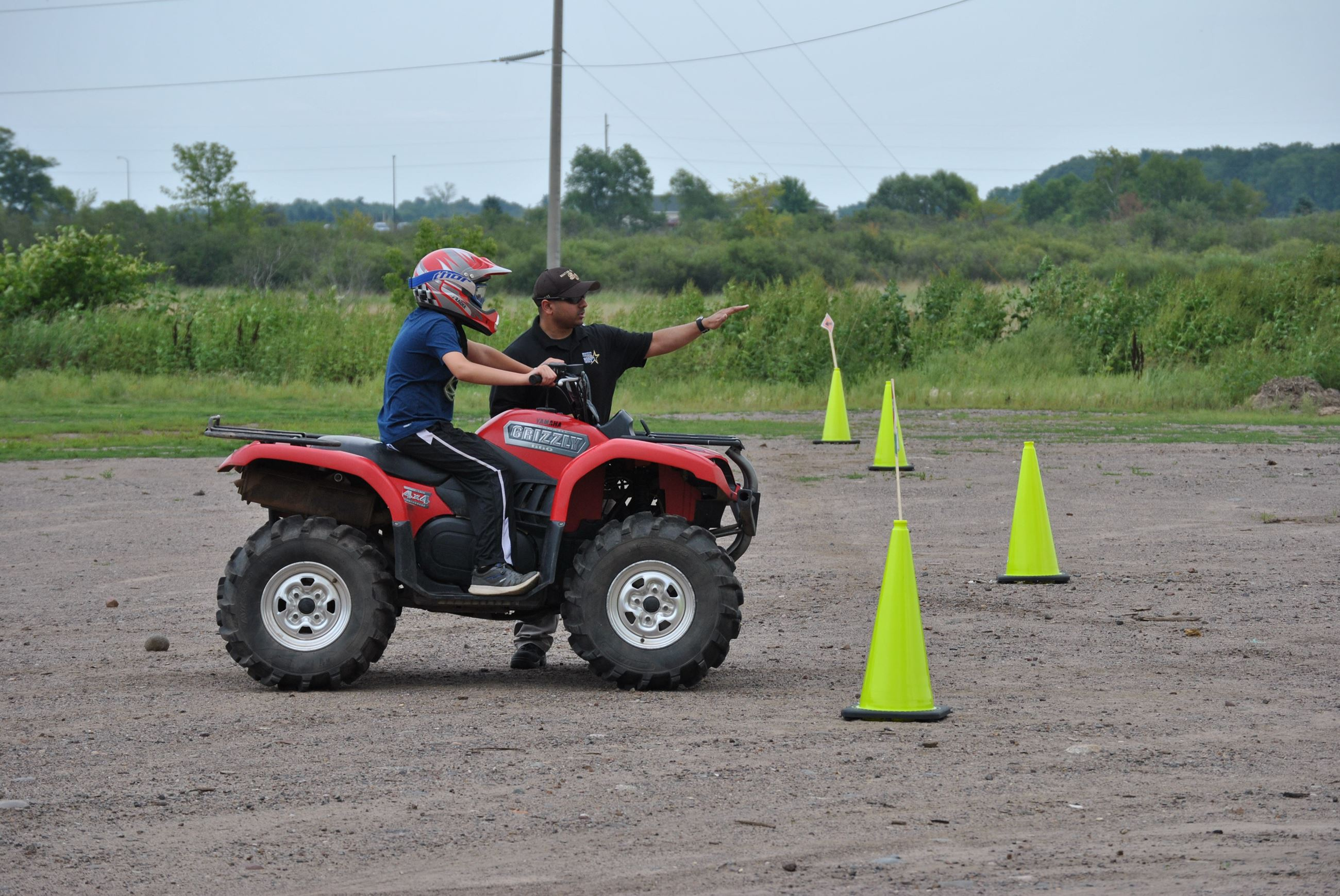 Deputy directing youth on ATV